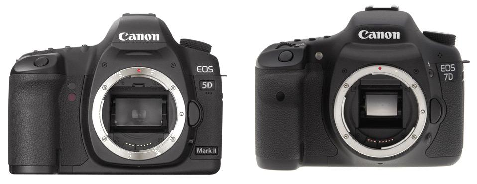 Canon EOS 5D mark II dan 7D, bentuk fisik hampir sama, tapi isi dan teknologi jauh berbeda