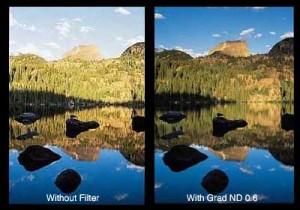 Dengan mengunakan filter bergradasi dengan benar, kita bisa menyeimbangkan eksposur langit dengan permukaan bumi