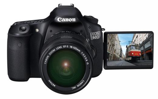 Canon EOS 60D punya LCD putar dan desain antar muka yang baik