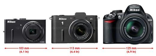 Perbandingan dengan kamera DSLR Nikon D3100