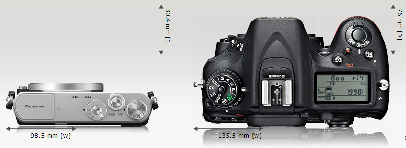 versus Nikon D7100, dari atas