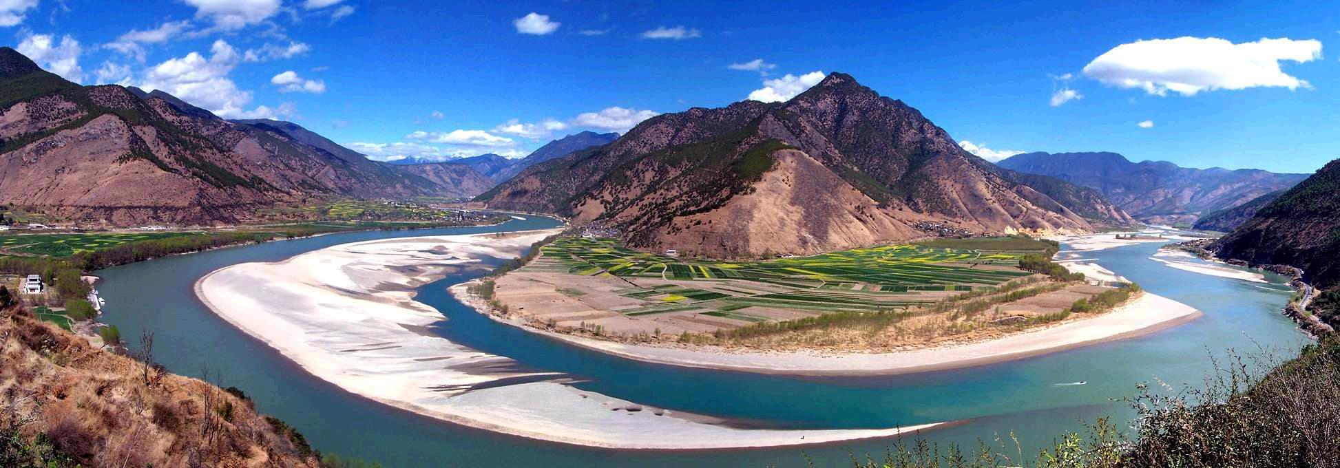 Belokan pertama sungai Yangtze