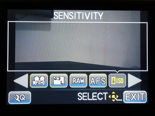 Isi Quick menu Panasonic GF3 : ISO, image quality, autofocus mode, aspect ratio dan movie