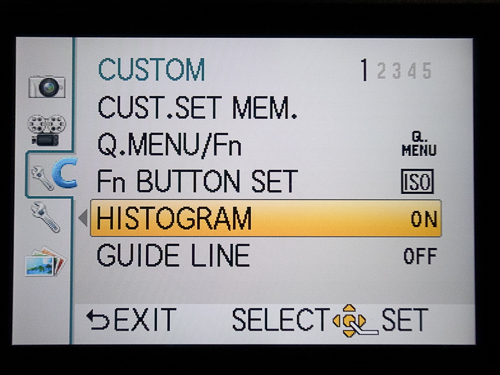 Isi custom setting di menu