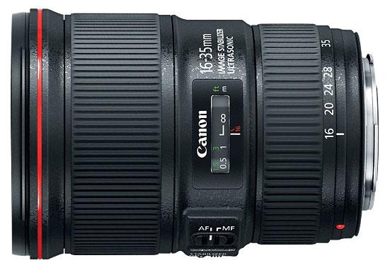 Canon EF 16-35mm f/4 IS USM L filter 77mm, berat 615 gram, panjang 11.8 cm, minimum fokus terdekat 28 cm