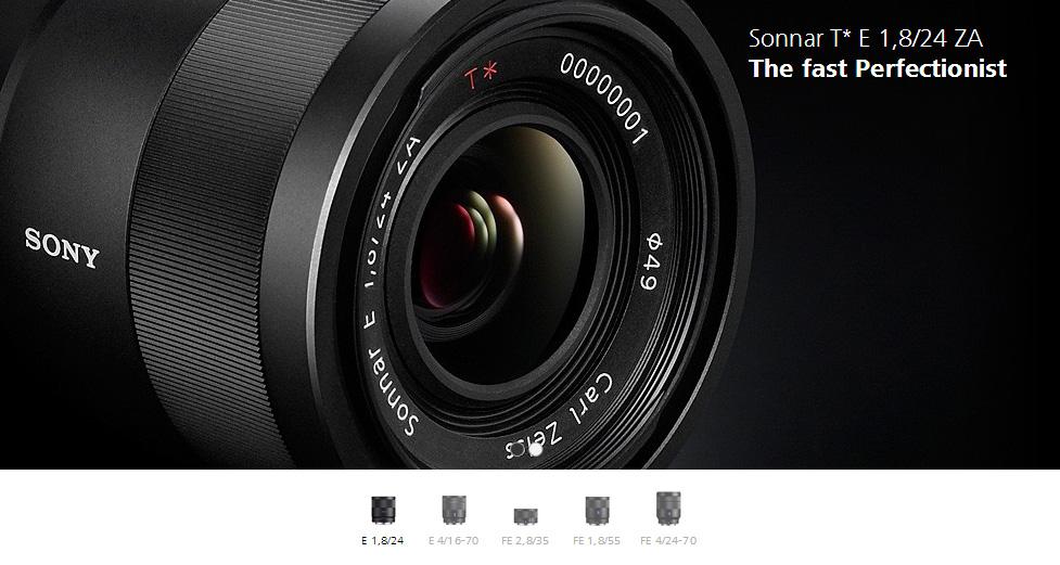 Sony Zeiss 24mm f/1.4. Lensa Zeiss biasanya terkenal dengan lensa-lensa fixnya yang tajam dan kontras.