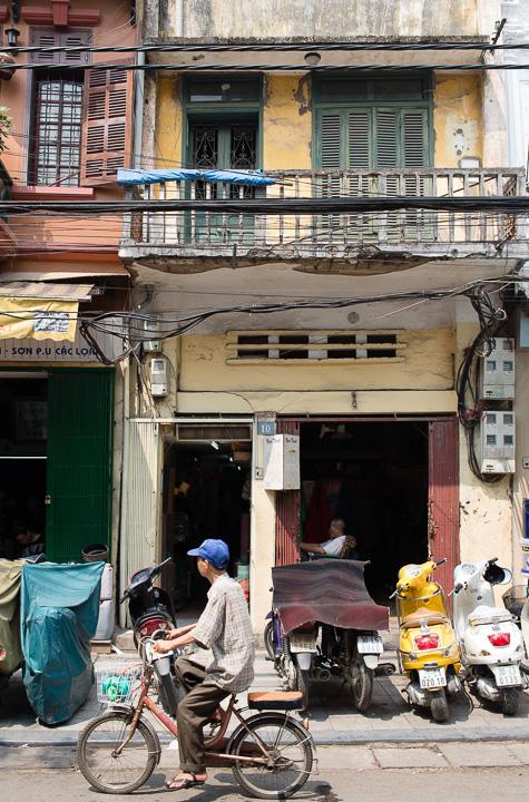 Suasana di Old Quarter, Hanoi, Vietnam