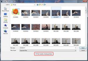 Menemukan file foto sekitar foto yang tidak terhubung