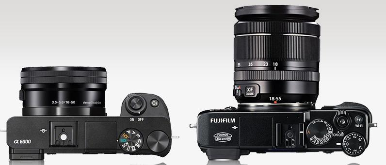 Kiri: Sony A6000, Kanan Fujifilm XE-2
