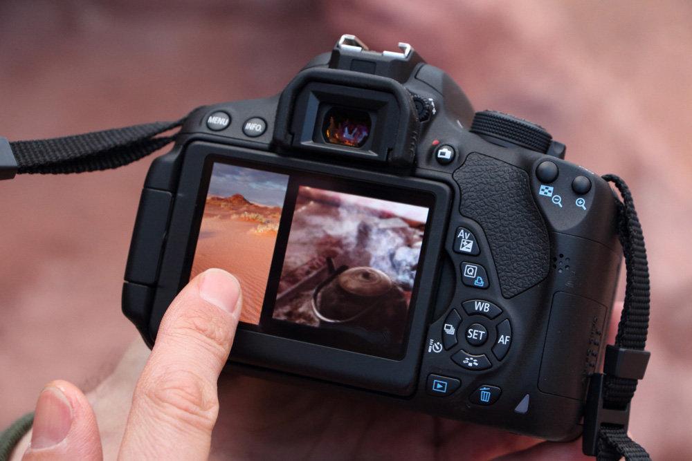 Canon 700D unggul di layar sentuh dan kecepatan fokus saat live view & rekam video.