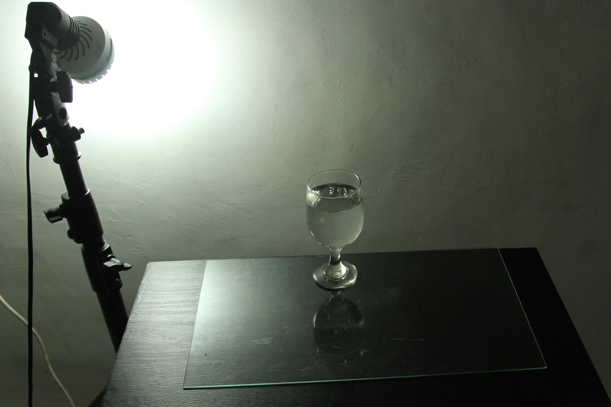 1a  Skema lighting sebelum diblok & Blocking dan Cutting cahaya di fotografi