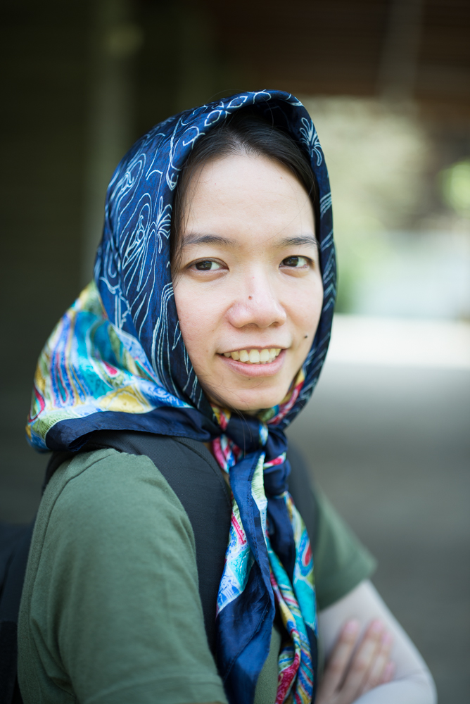 Contoh foto portrait di bukaan f/1.4