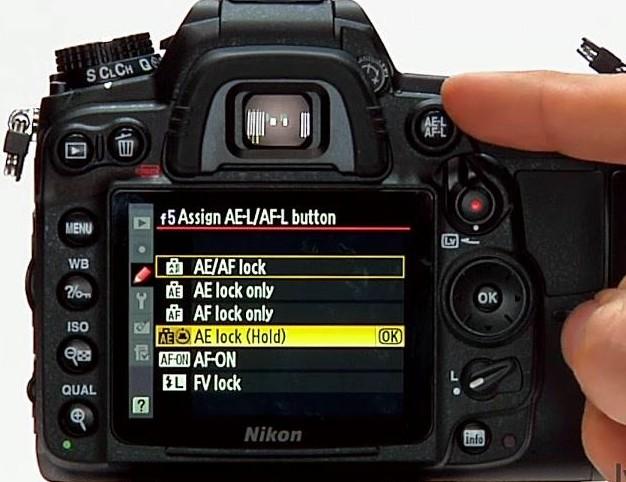 Konfigurasi tombol untuk kebutuhan AF dan AE lock