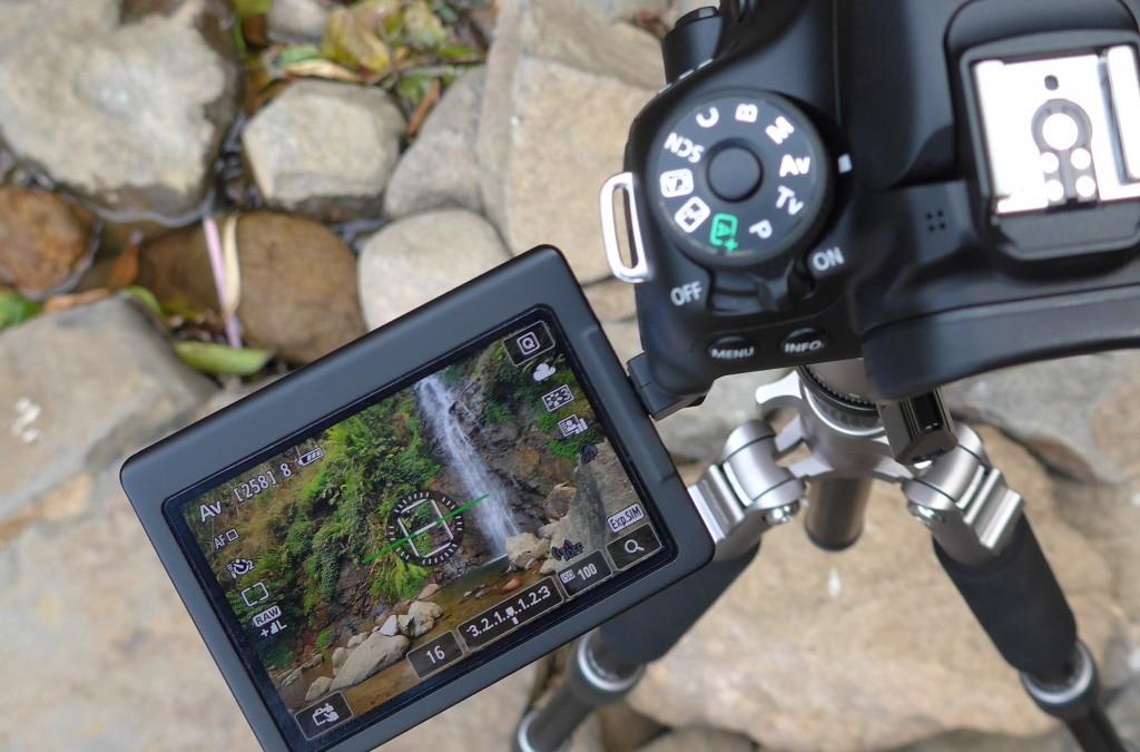 Live view dengan LCD lipat di DSLR membantu saya mengkomposisi foto dengan angle yang tidak umum