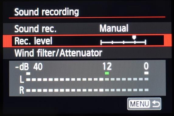 Pengaturan audio saat merekam video di kamera DSLR