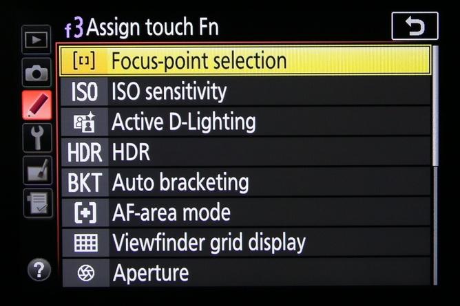 Bila touch Fn di assign ke Focus-point selection, maka saat layar mati kita tetap bisa memanfaatkan layar sentuh untuk mengganti titik fokus