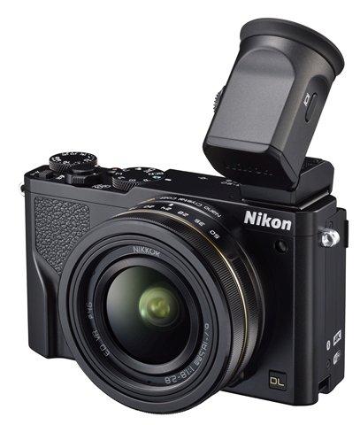 Nikon DL 18-50mm f/1.8-2.8 dengan jendela bidik opsional.