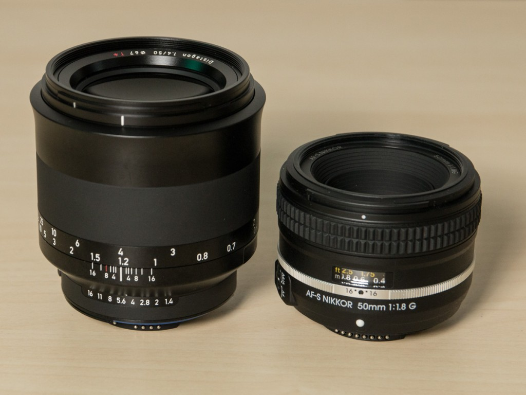 Zeiss Milvus 50mm f/1.4 disandingkan dengan Nikon AF-S 50mm f/1.8