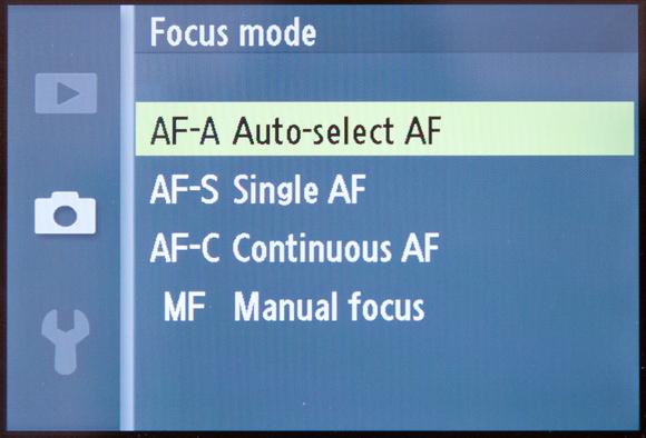 Umumnya inilah pilihan untuk servo fokus di kamera, pilih sesuai kebutuhan dan keadaan subyeknya