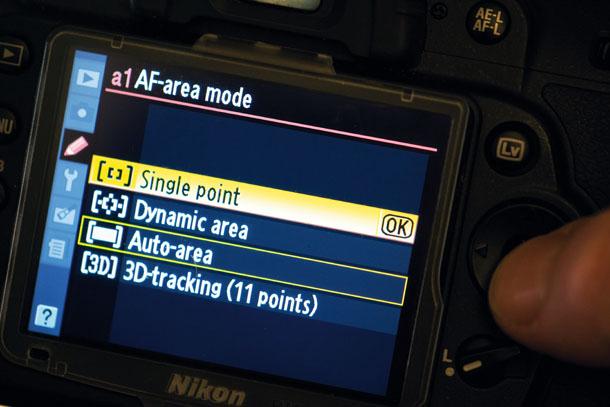 Di kamera Nikon mode AF area agak berbeda dengan Canon