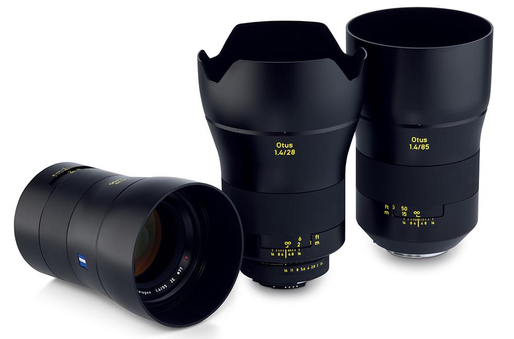 Foto Keluarga Zeiss Otus: 28mm, 55mm, dan 85mm. Semuanya berbukaan f/1.4