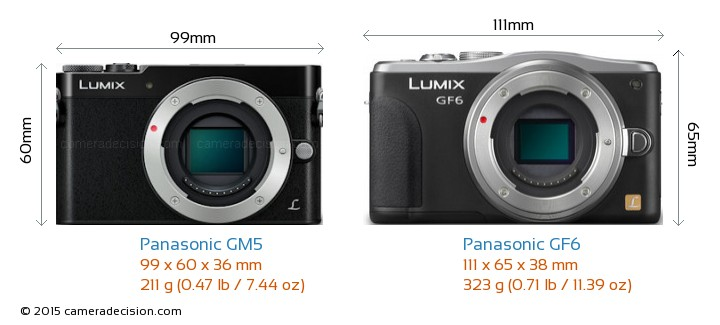 Panasonic-Lumix-DMC-GM5-vs-Panasonic-Lumix-DMC-GF6-size-comparison