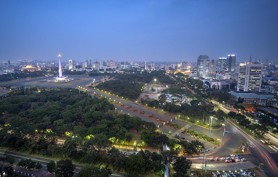 View ke arah monas (photo by Rohani Tanasal)