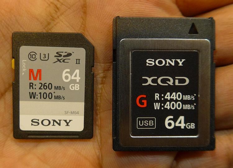 Hands-on dua kartu seri teratas Sony : SD card seri M dan XQD seri G