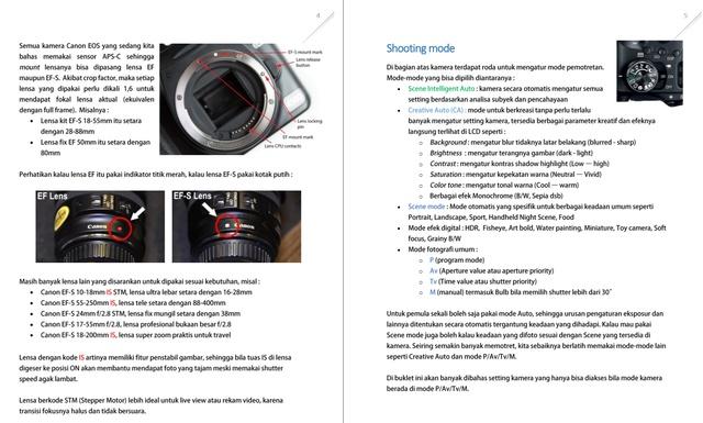 Telah tersedia, e-book Basic Setting Kamera Canon EOS (DSLR