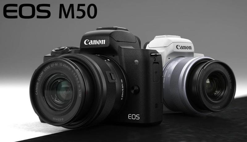 Canon Mirrorless Pemula Dengan Jendela Bidik Eos M50