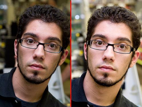 Contoh potret mengunakan slow sync flash