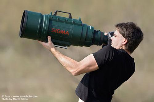 Lensa super telefoto zoom buatan Sigma, 200-500mm