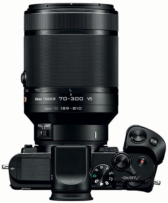 Nikon 1 70-300mm f/4.5-5.6 VR dengan Nikon V3