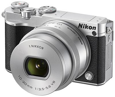 Nikon J5, 20MP, 20fps, 4K gaya retro