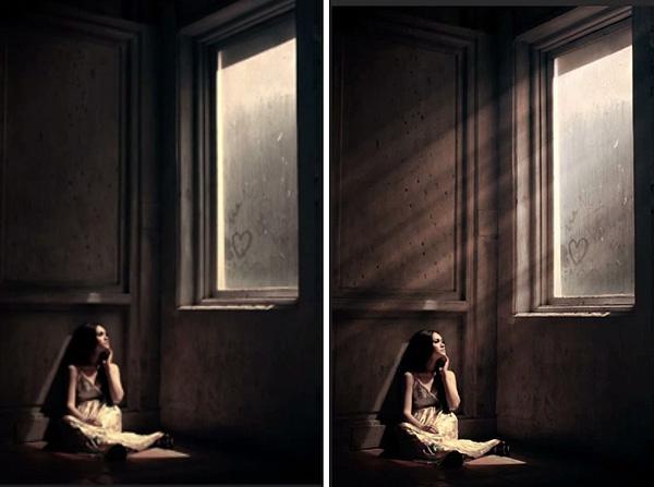 Belajar membuat efek ray of light dengan Adobe Photoshop