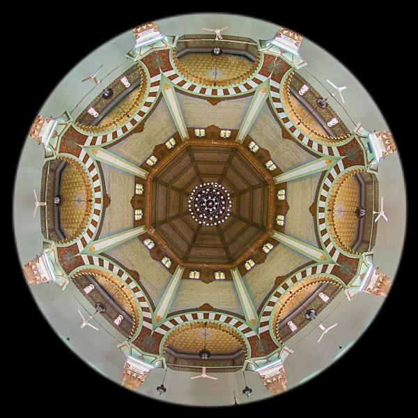 Interior Mesjid Raya Al Mashun, Medan