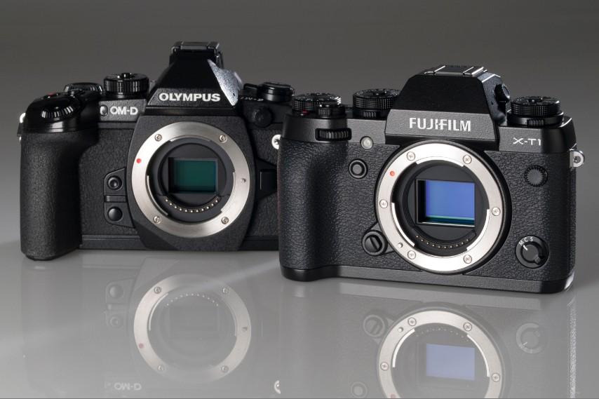 Kiri: Olympus OMD EM1, kanan: Fujifilm XT1