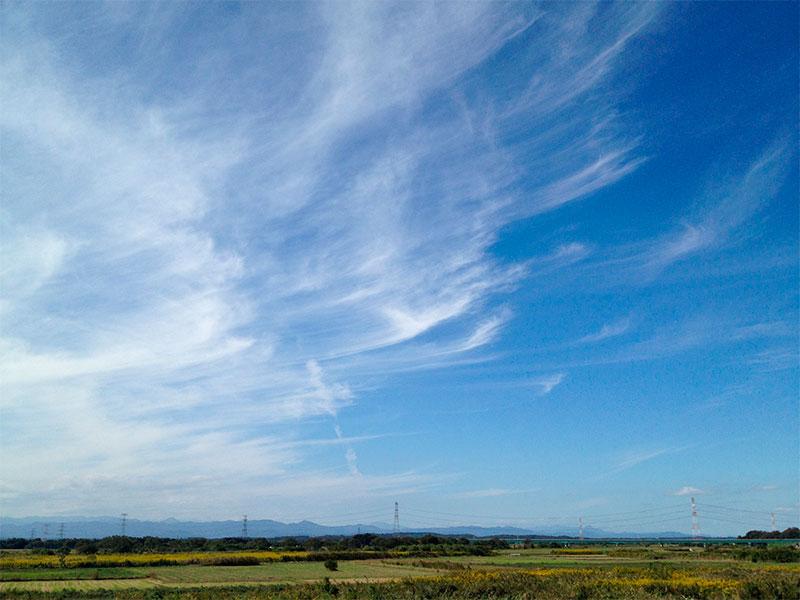 blue sky - langit biru