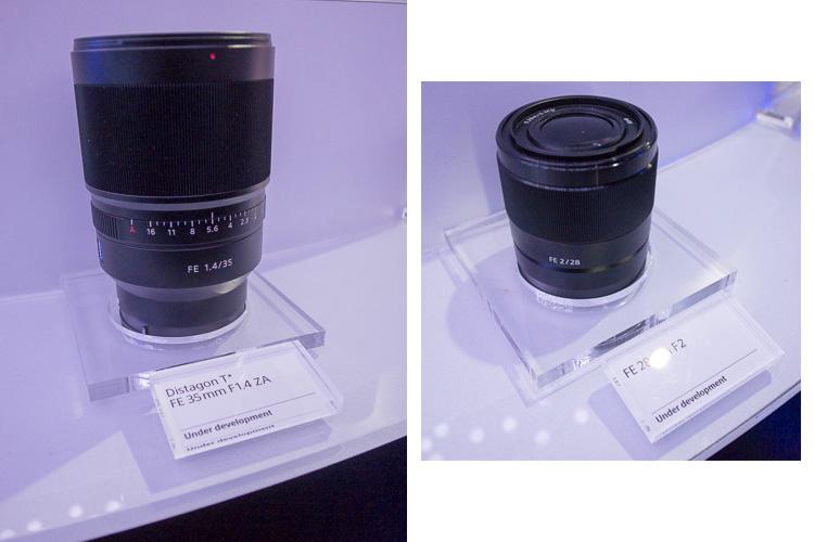 Kiri: Sony 35mm f/1.4 yang ukurannya agak besar (tidak bisa dihindari kalau bukaannya besar + ada aperture ringnya). Dan Sony 28mm f/2