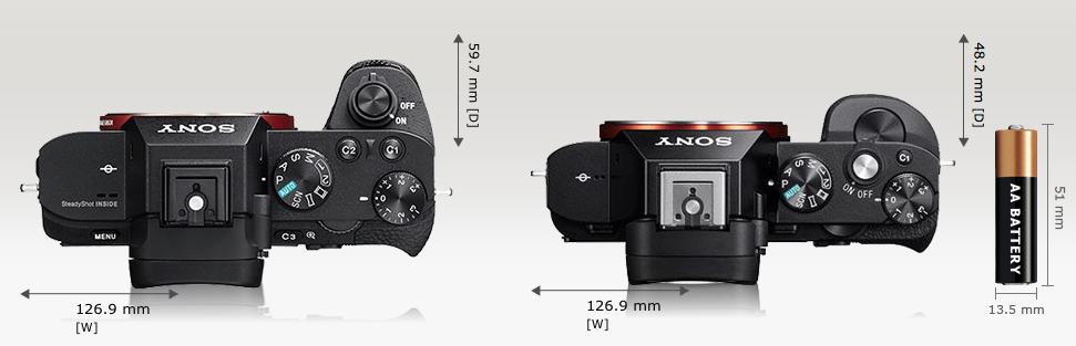 Perbedaan terbesar dari desain Sony A7 mk II terletak di bagian atasnya.