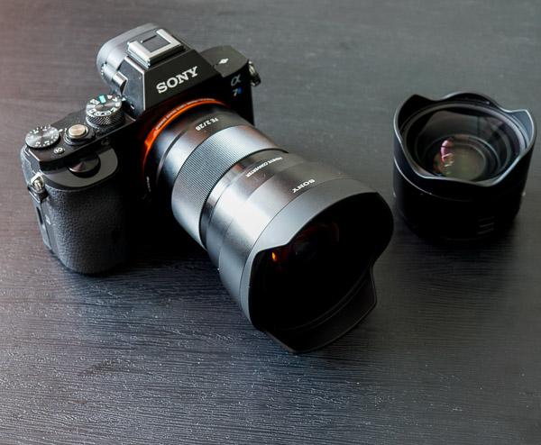 Sony A7s + FE 28mm + fisheye converter