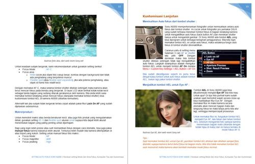 Contoh isi buklet PDF Setting auto fokus Sony A6000